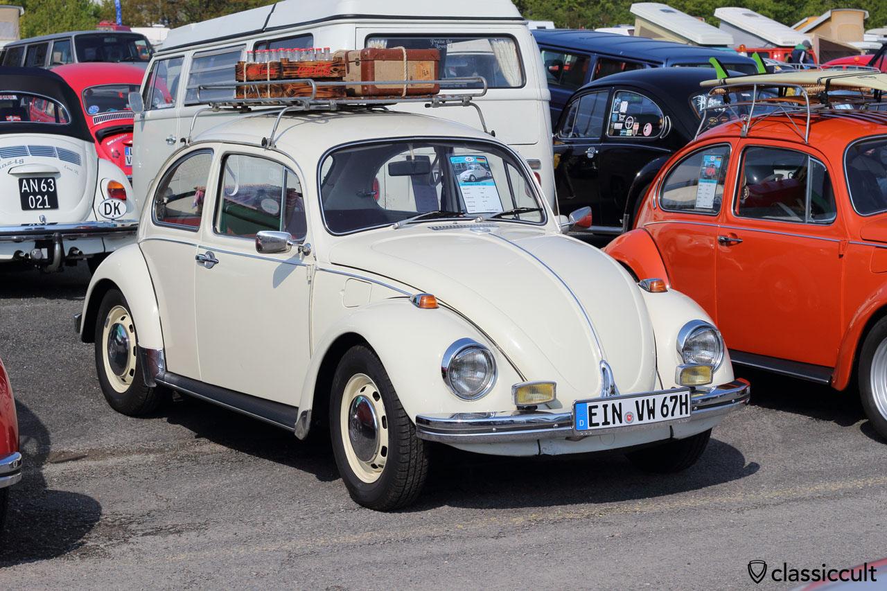 VW Käfer 1300, 10/1967, lotosweiß L282