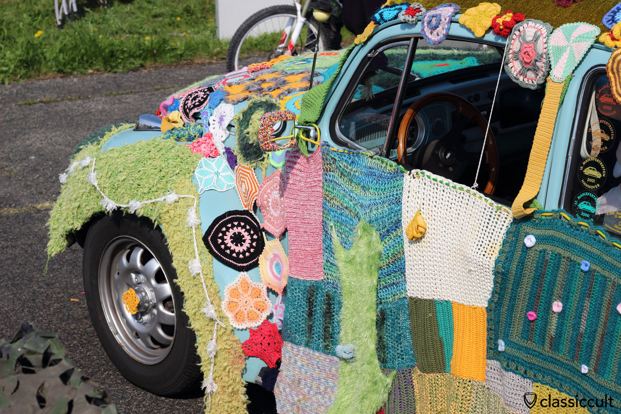 crochet knit VW Beetle