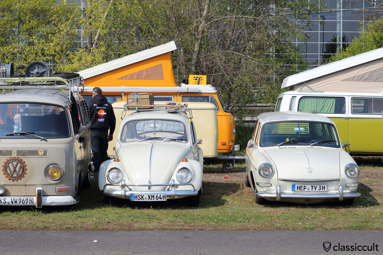 1969 T2a Bus, 1964 Bug and Type 3 squareback
