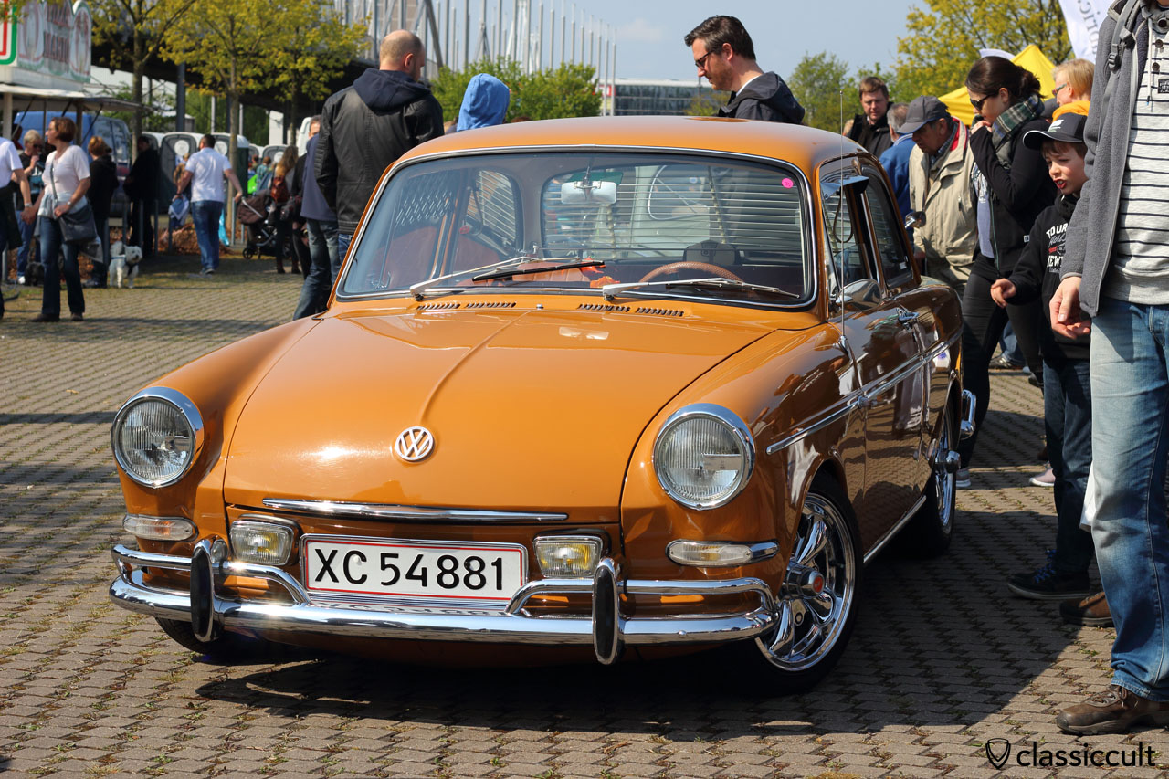 great VW Type 3 with original fog lights, bumper guards and empi gt wheels