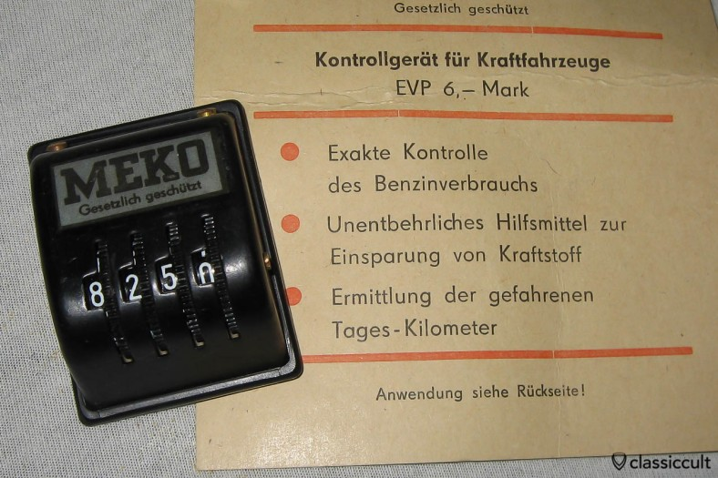 Meko made in East Germany (DDR) KM counter. Period correct and nice only in a Trabant.