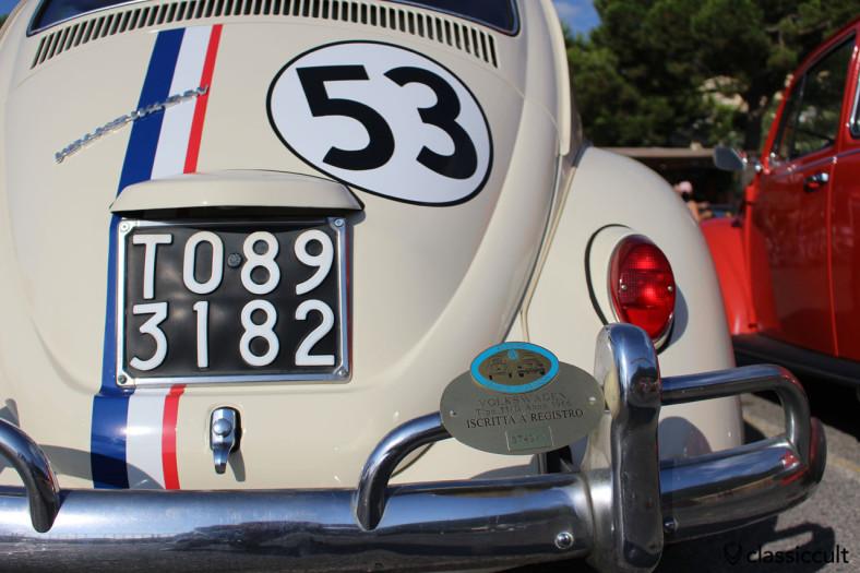Registro Italiano Volkswagen Tip 11/D Anno 1966 (Herbie 53)
