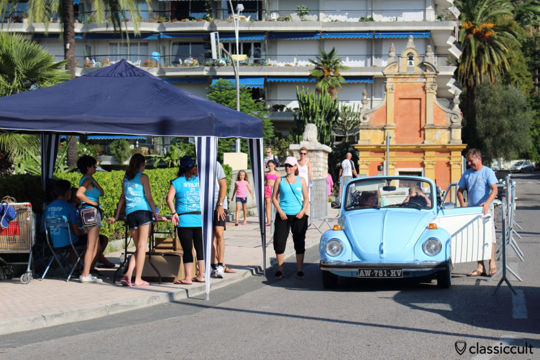 Cox Cabriolet just arrived at Menton VW Meeting 2014