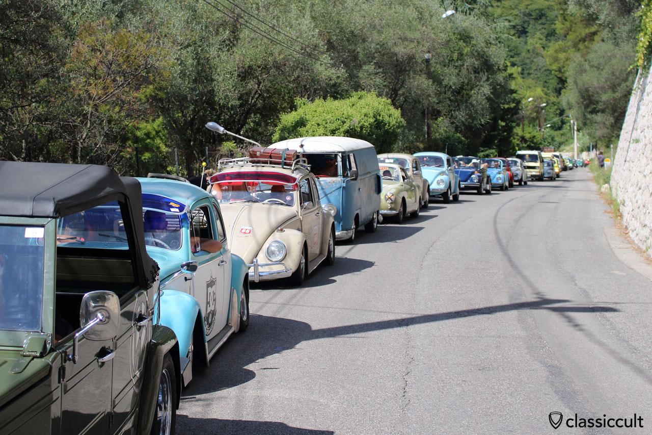 Cox d'Azur touristic rally to Gorbio village 2014