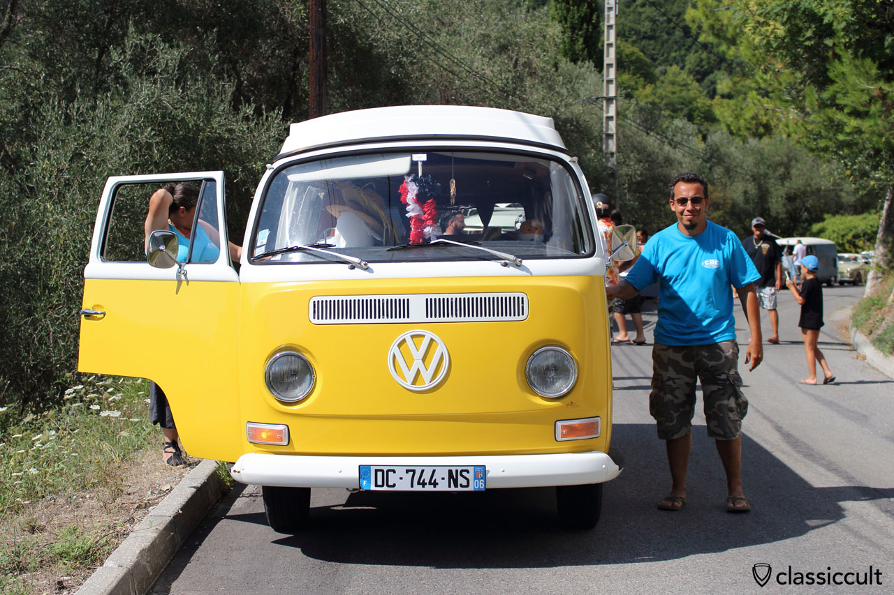 Cox d'Azur VW Club cruise in 1969 T2a Bus to Gorbio