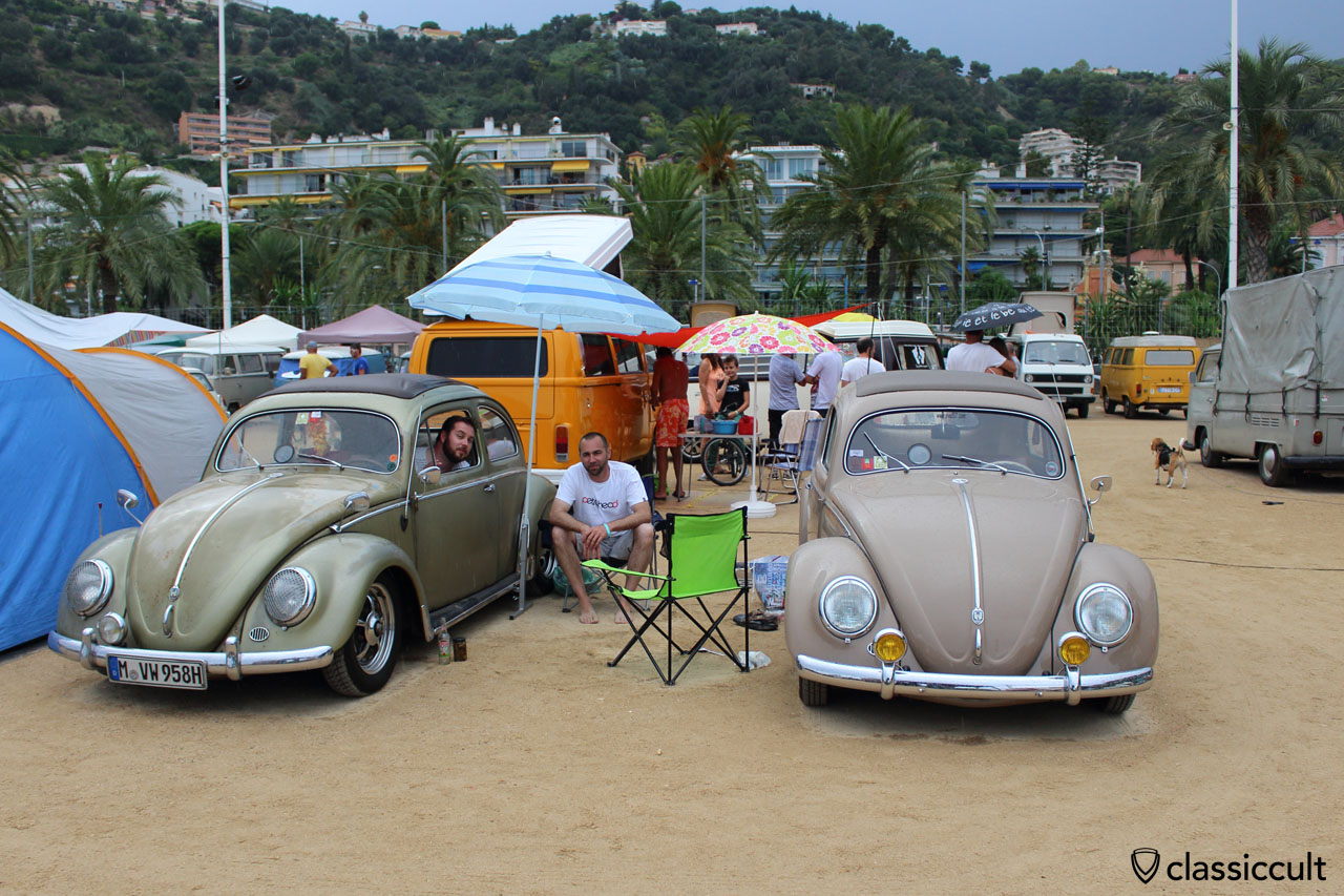 thegoldenblechie and oval56 at Menton VW Meeting 2014