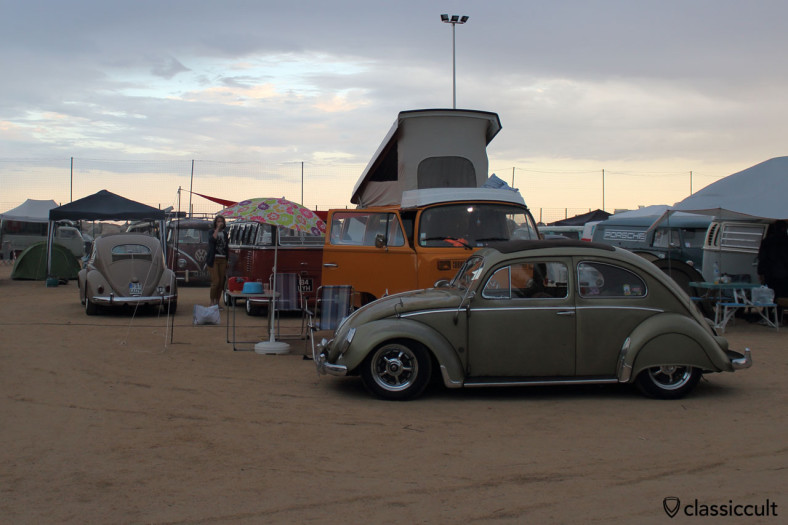 Sunset at Menton VW Meeting, Saturday 16th August 2014