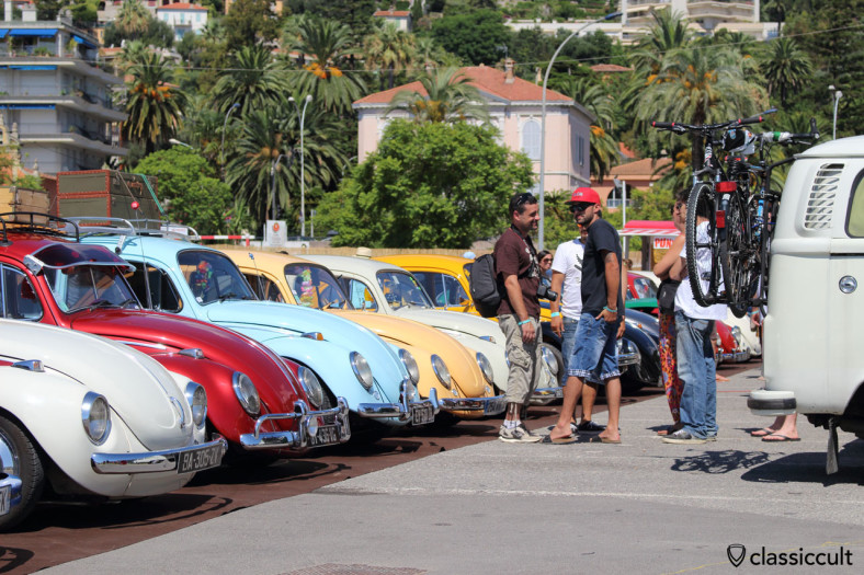 VW Beetle Line Up Menton VW Show 2014