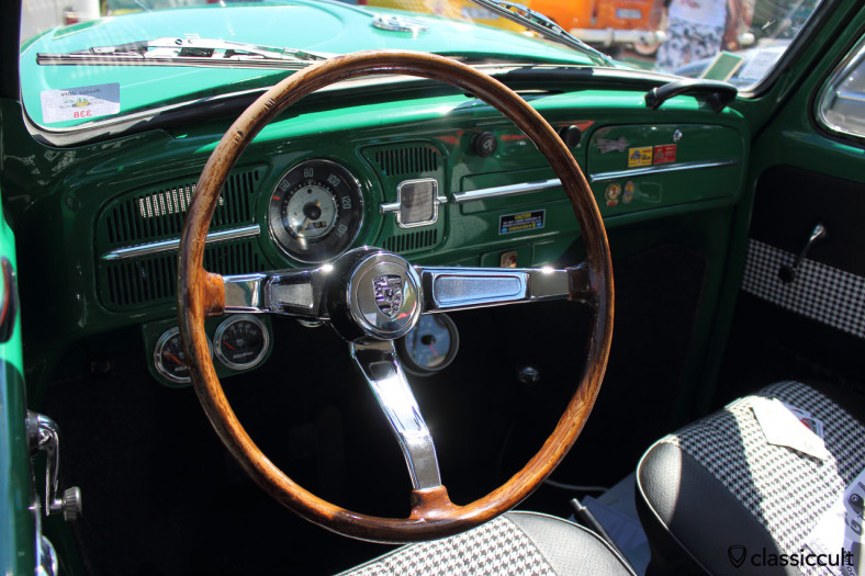 VW Beetle dash with porsche steering wheel