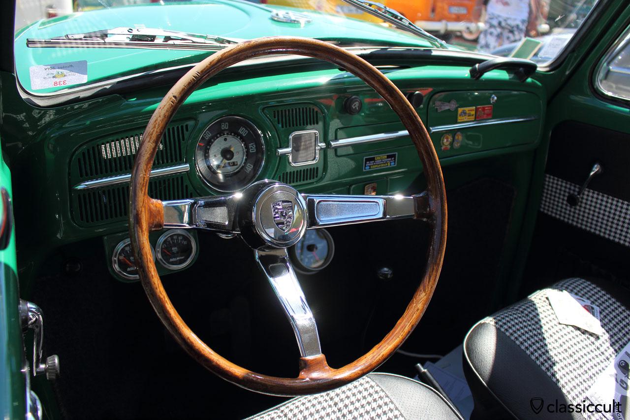 VW Beetle dash with porsche steering wheel
