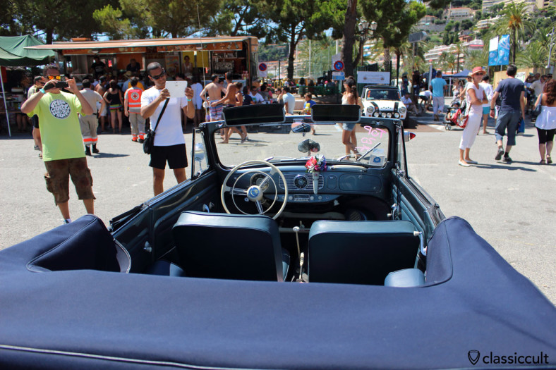 vw oval cabrio with hella park light