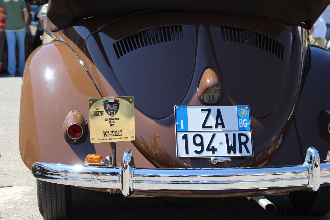 VW Karmann Split Beetle Cabriolet