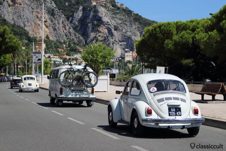 VW Parade along Promenade du Soleil Menton 2014