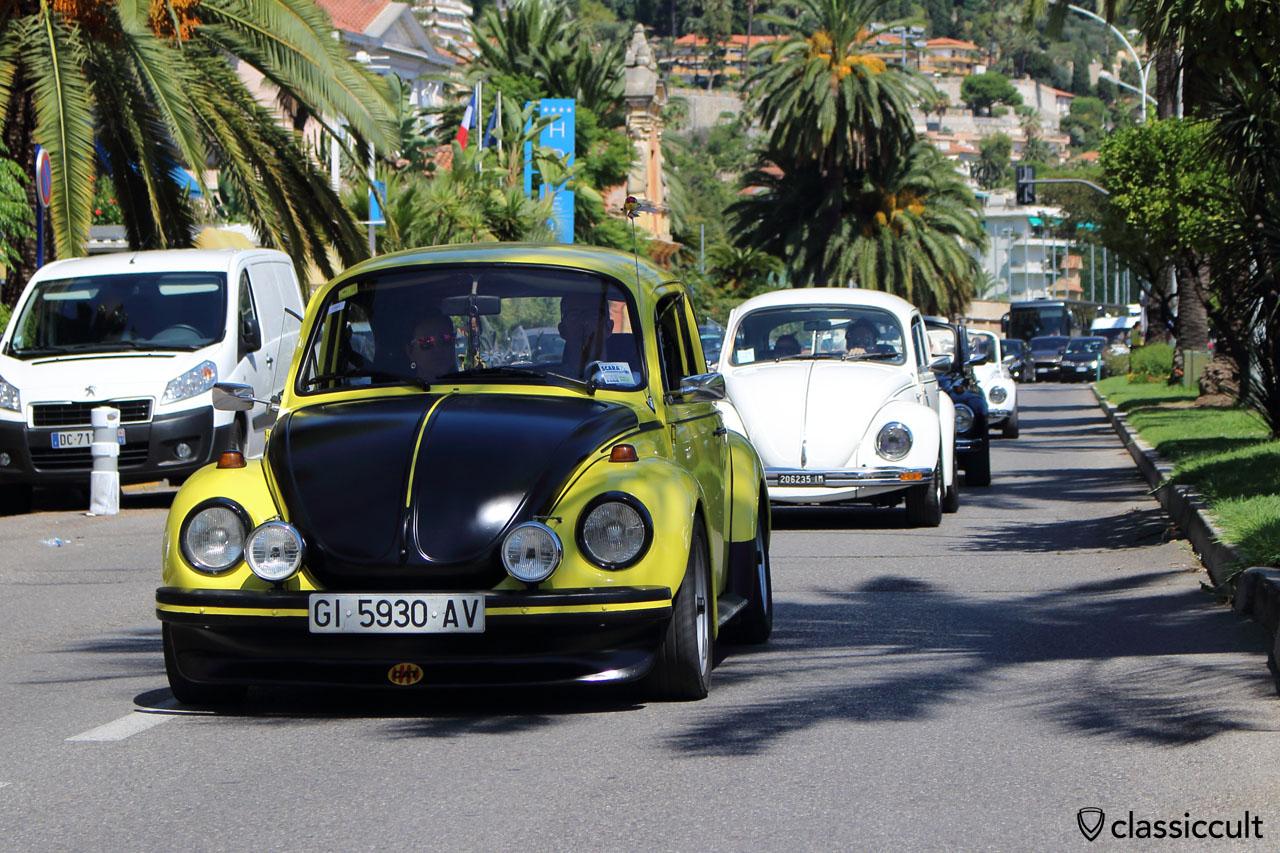 yellow black VW Cox Menton Parade 2014