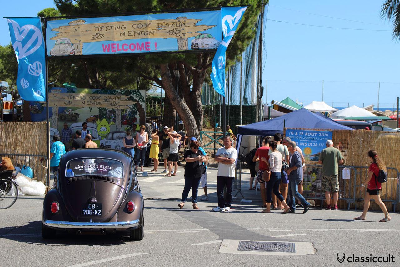 Parade finish Menton VW Meeting 2014-08-17, time 15:42