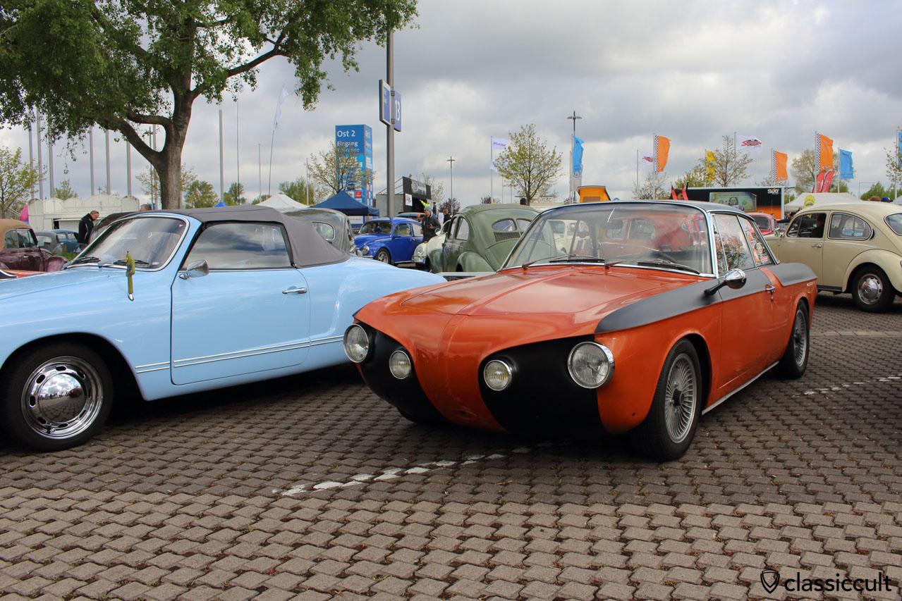 Karmann Ghia Rennwagen mit Alpha Talbot Spiegel