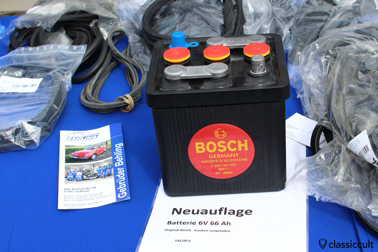 Bosch Germany 6V 66AH VW Käfer Batterie als Neuauflage, gebrueder-behling.de