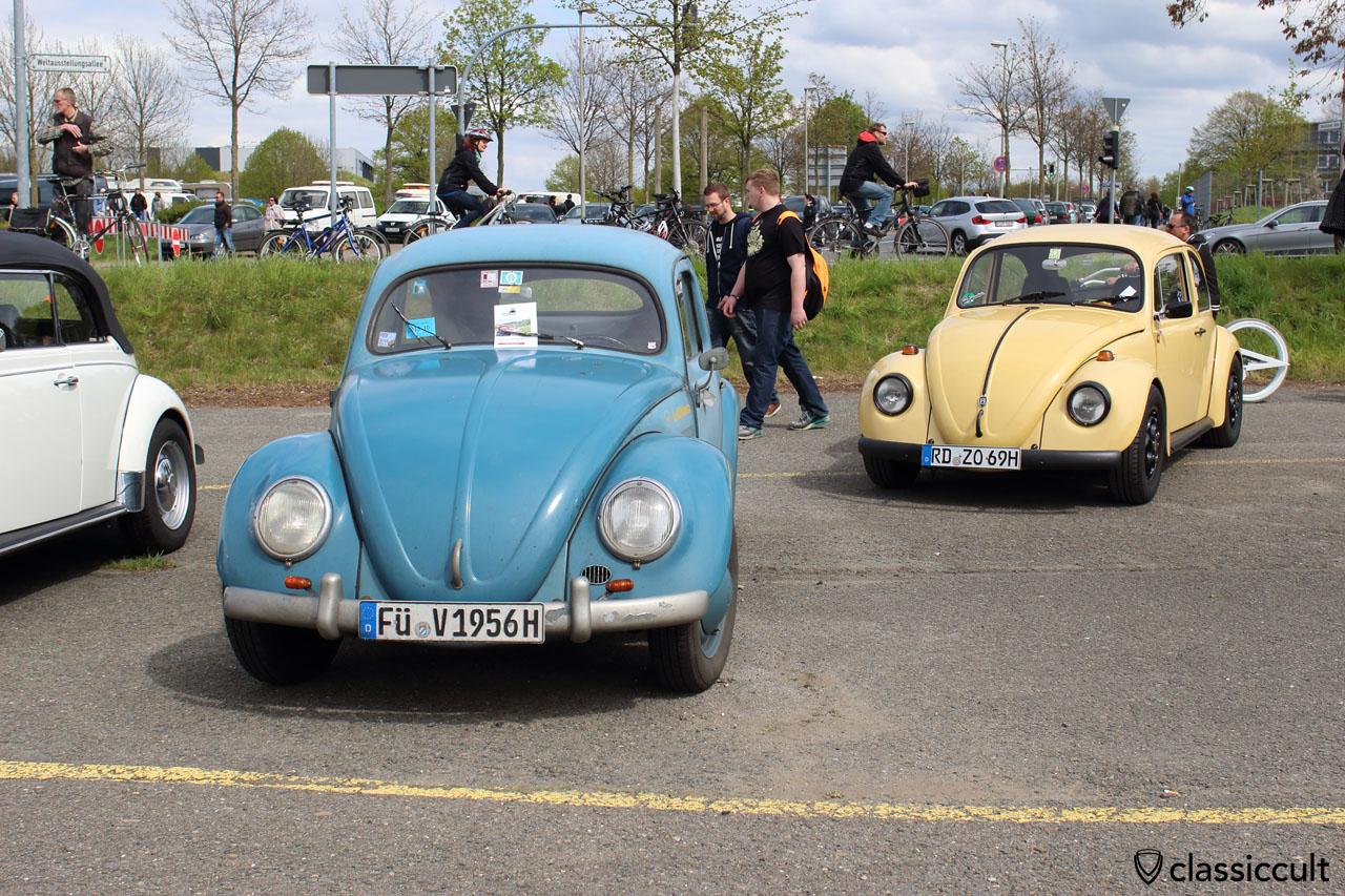 VW Standard Käfer Ovali, BJ 1956, blau
