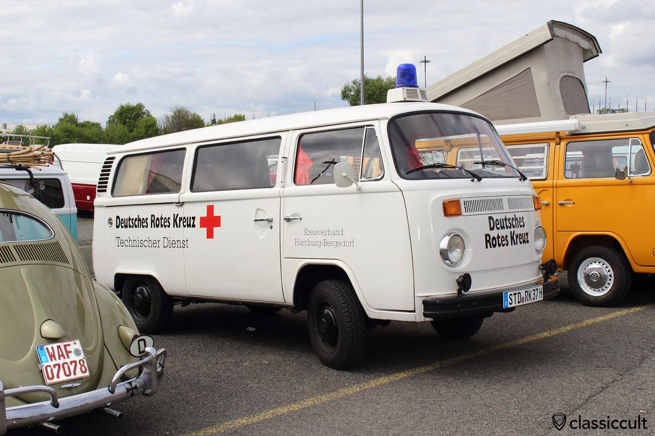 Deutsches Rotes Kreuz Hamburg Bergedorf VW T2 Bus Einsatzwagen