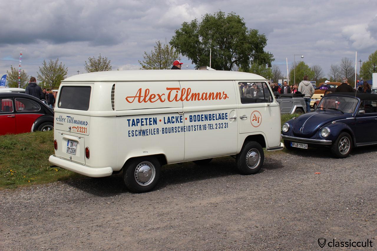 Alex Tillmanns Eschweiler, Tapeten Lacke Bodenbeläge, T2a Kasten Bus