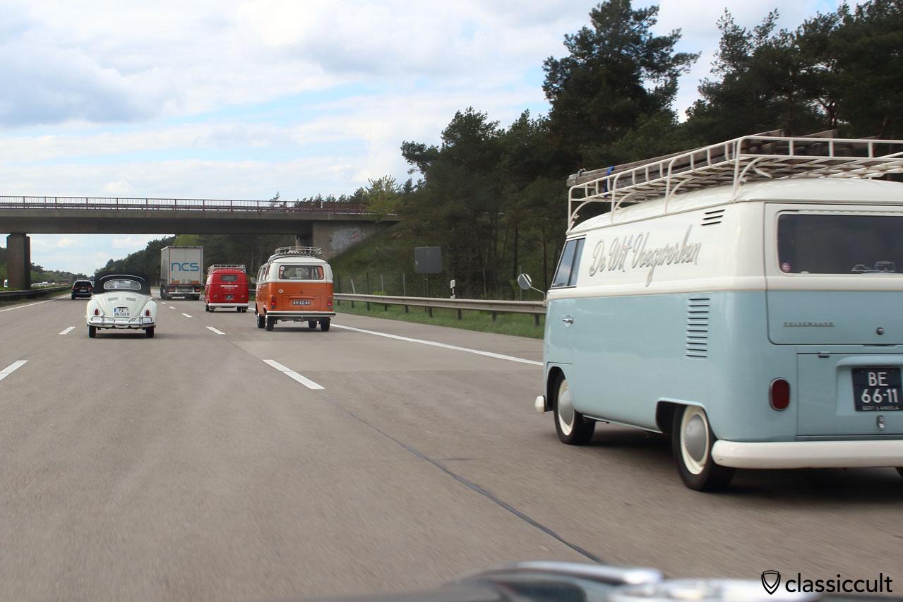 16:29 Maikäfertreffen 2015 Heimfahrt auf der Autobahn Richtung Hamburg / Bremen