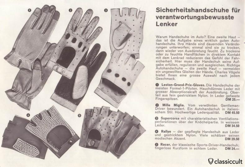 vintage Mille Miglia Leston Grand Prix Rallye Racer Gloves