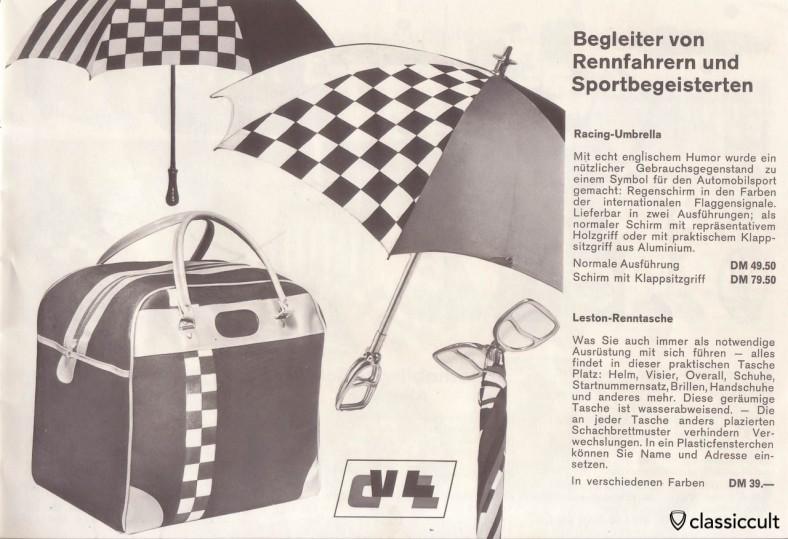 Racing Umbrella and nice Leston race bag