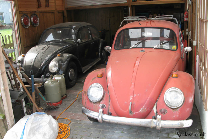 My 1965 VW 1200A Standard Beetle with 34hp in black 2008. In 2000, after about 10 years and 100.000 kilometers fun, I parked my beetle in the garage. Some years later I bought a second 1965 VW 1200 A in ruby red with 30hp.