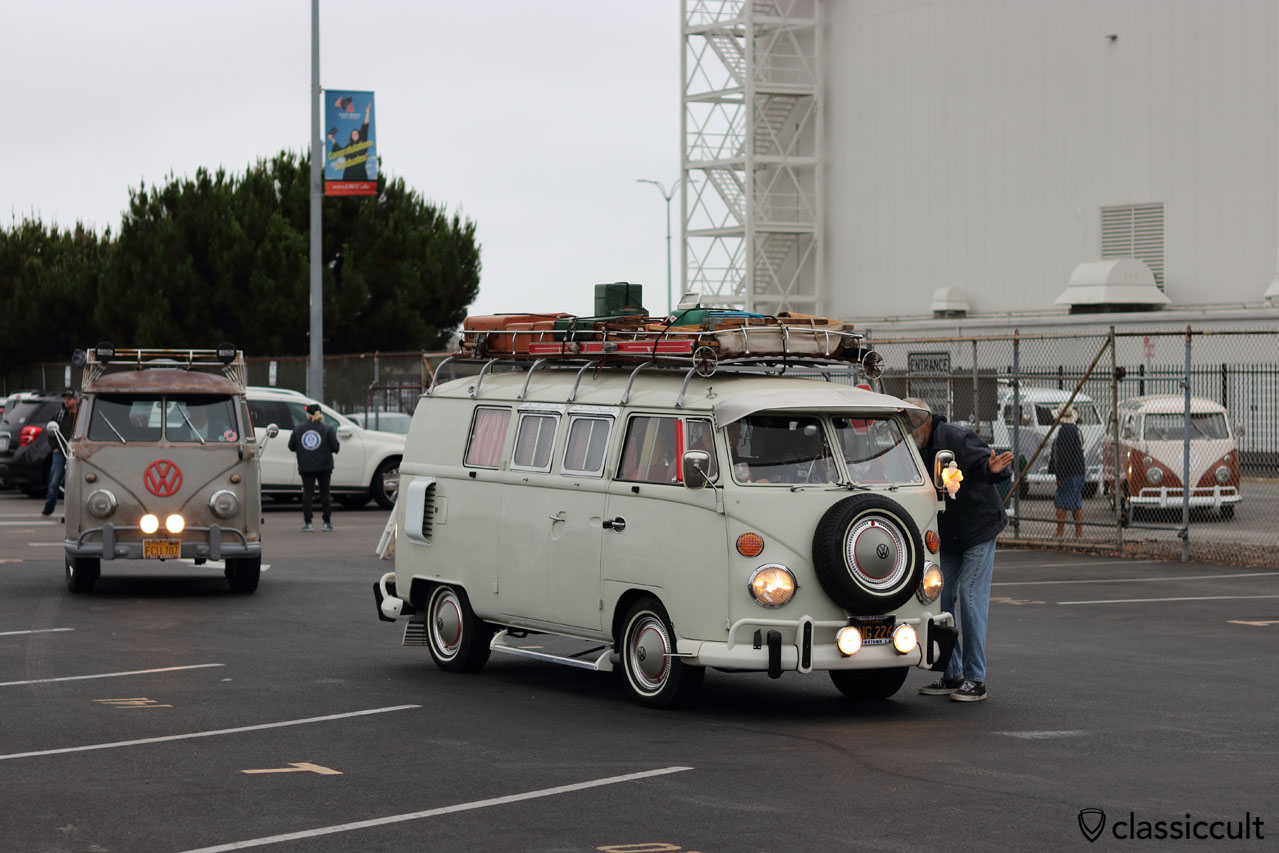VW Buses arriving at OCTO Show 2016