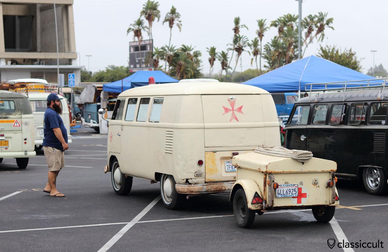VW Ambulance Split Bus with trailer