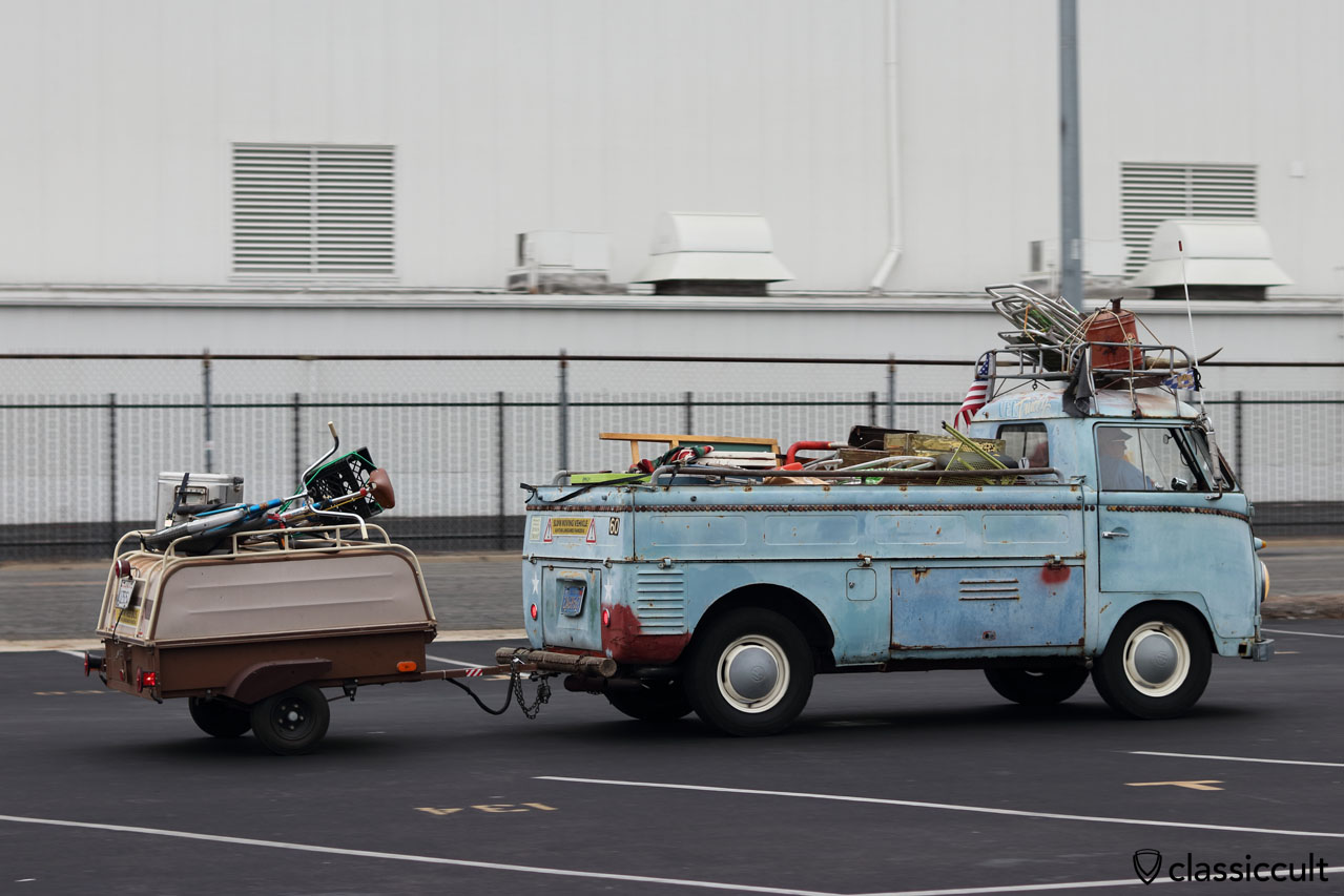 VW Single cab with trailer