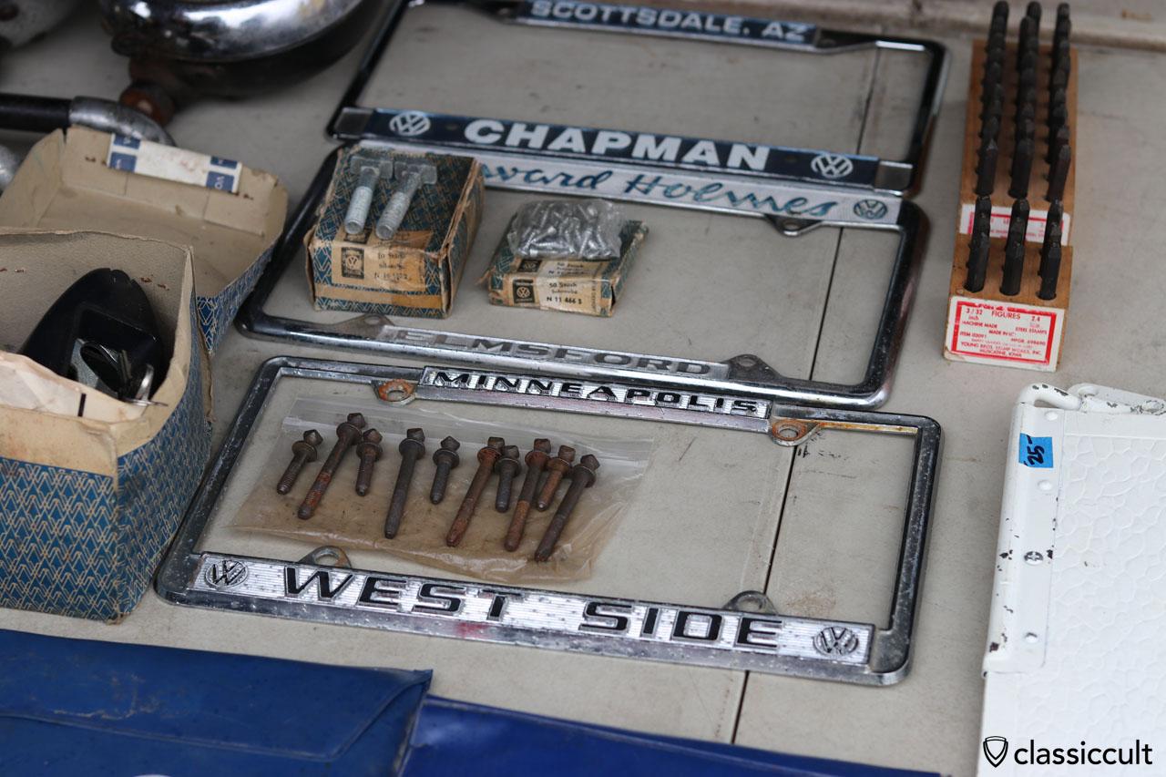 VW WEST SIDE licence plate frame, Minneapolis USA