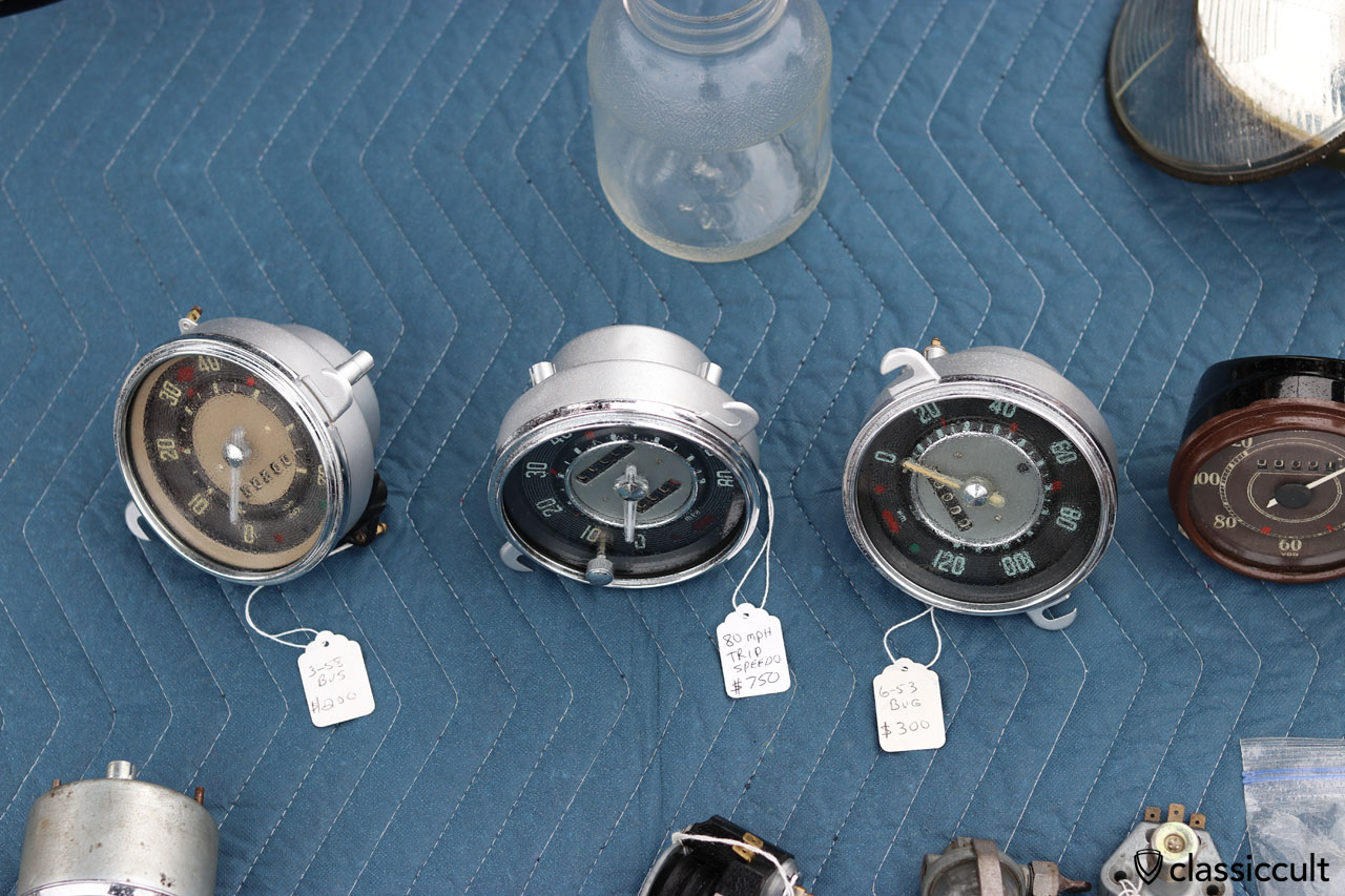VW Bus and Bug Speedometers