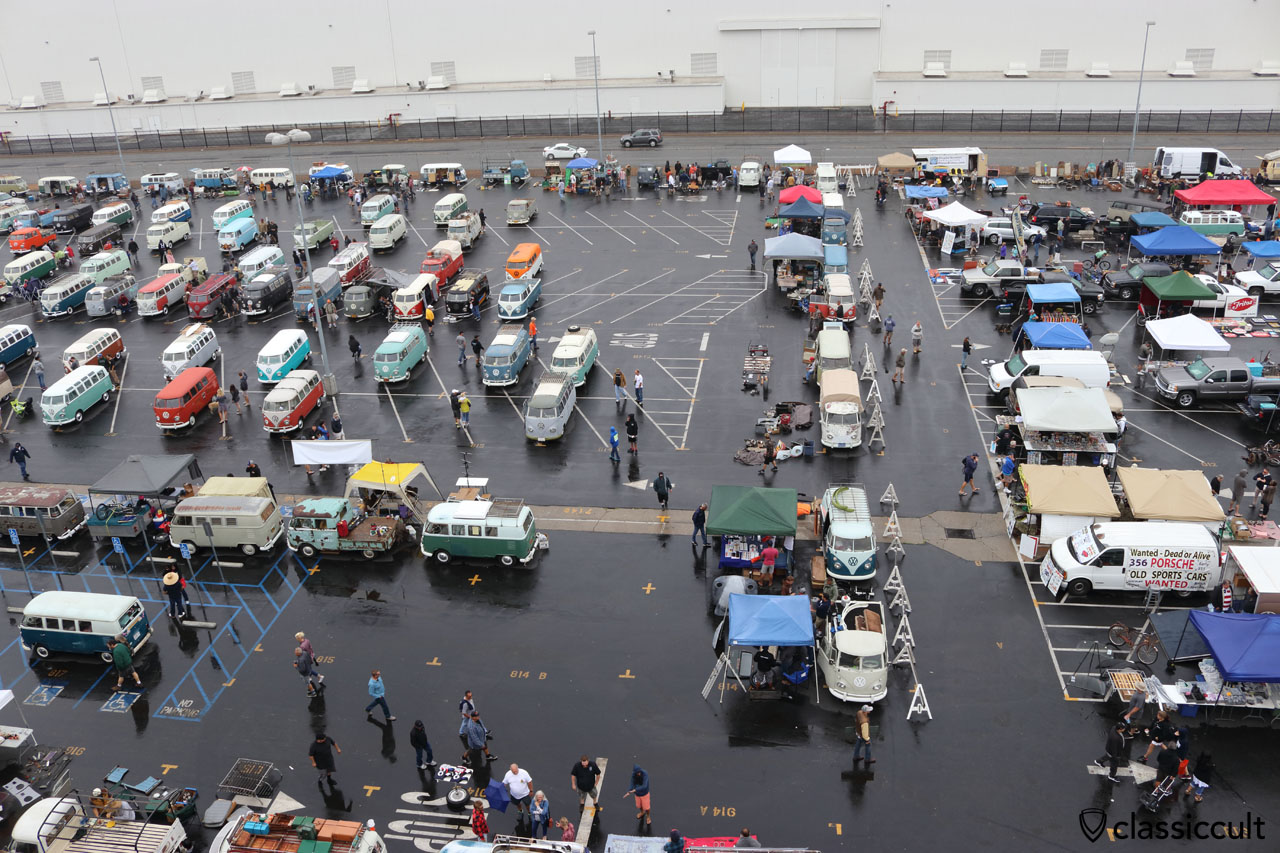 OCTO VW Show, view from the top of the Veterans Memorial Stadium