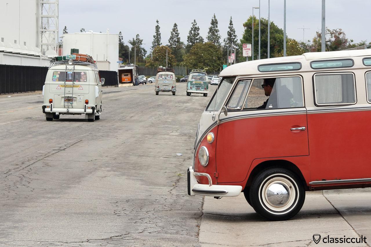 Goodbye OCTO Show, VW Bus Fans cruising home, 12:25 p.m., 11th June 2016, Long Beach, California, USA