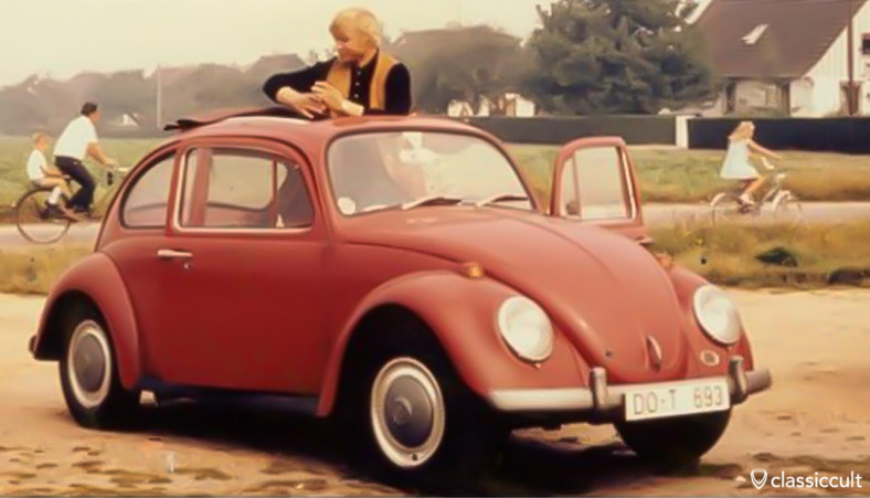 original VW 1200A 1965 Ruby Red Ragtop Beetle