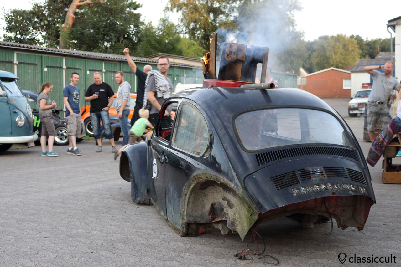 primerracing VW Beetle fireplace