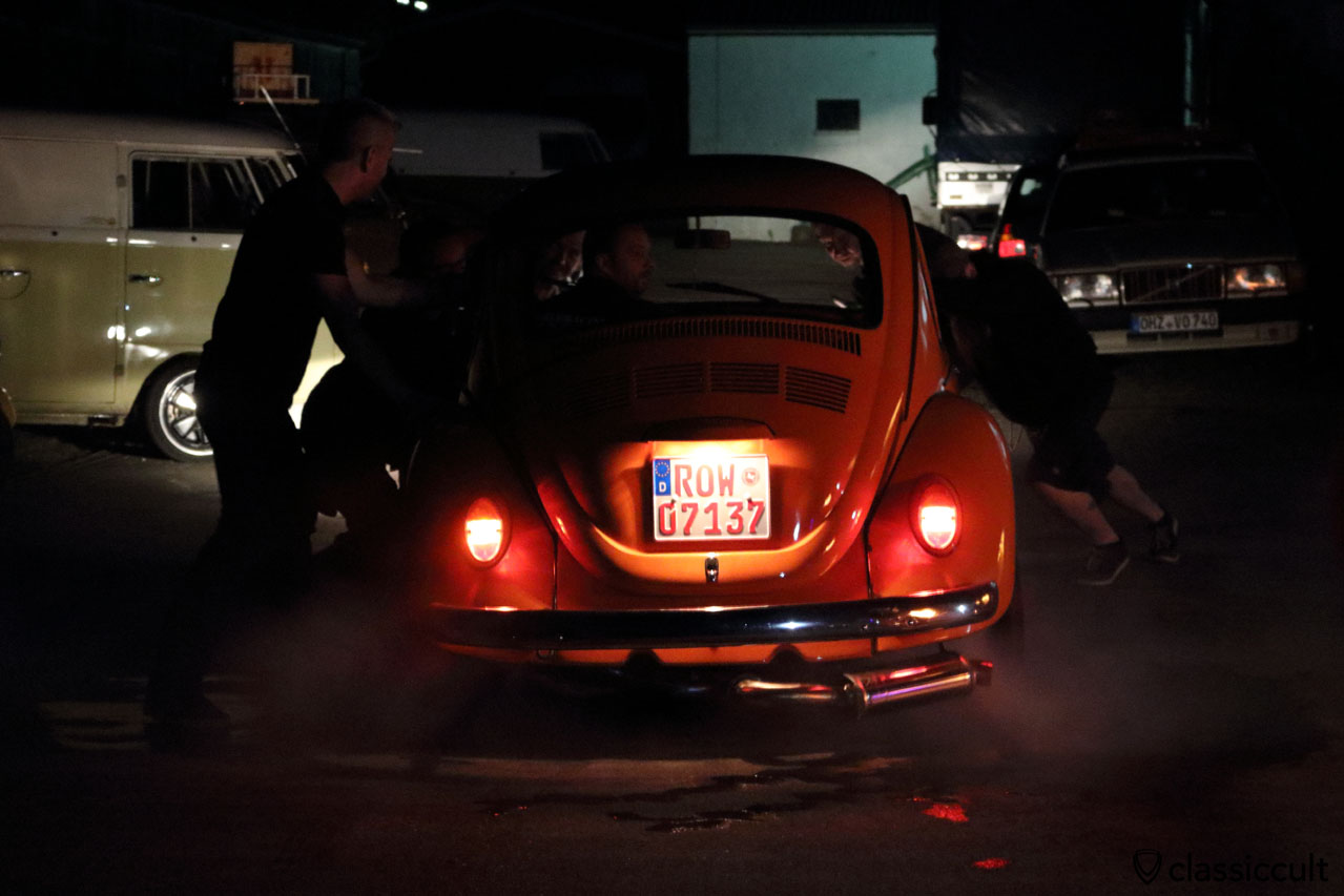VW Beetle ready for burnout