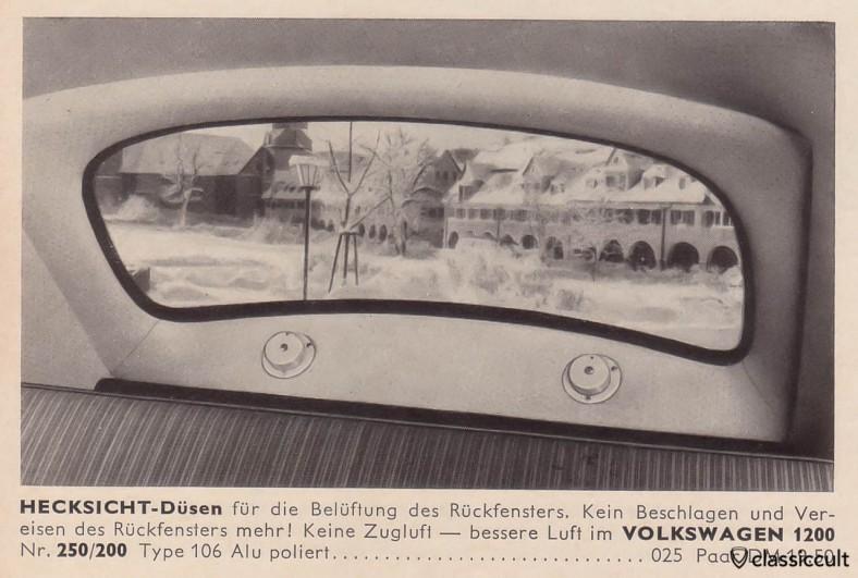 rear window fan VW 1200