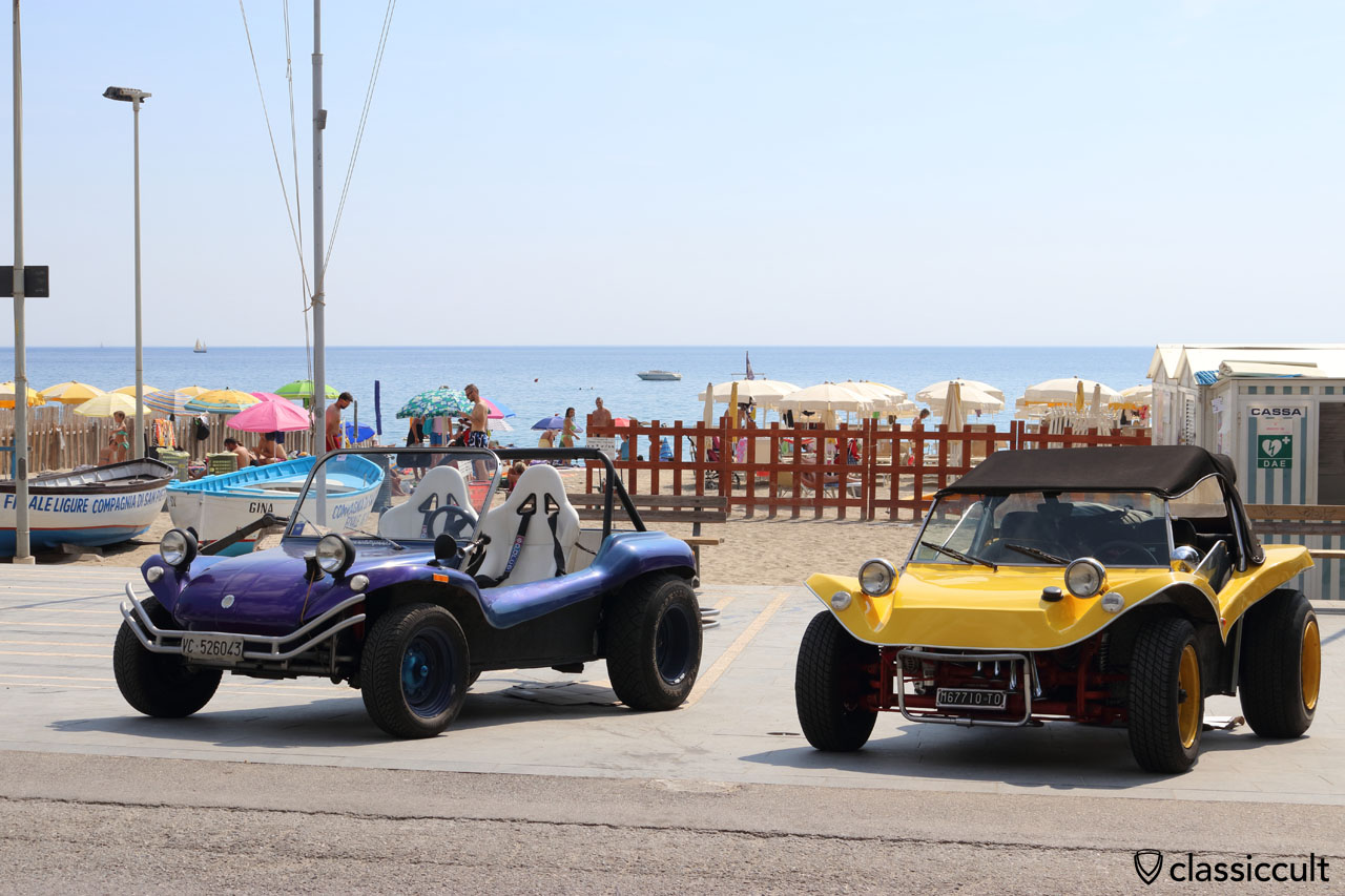 VW Buggy at Finale Ligure Beach, Italy
