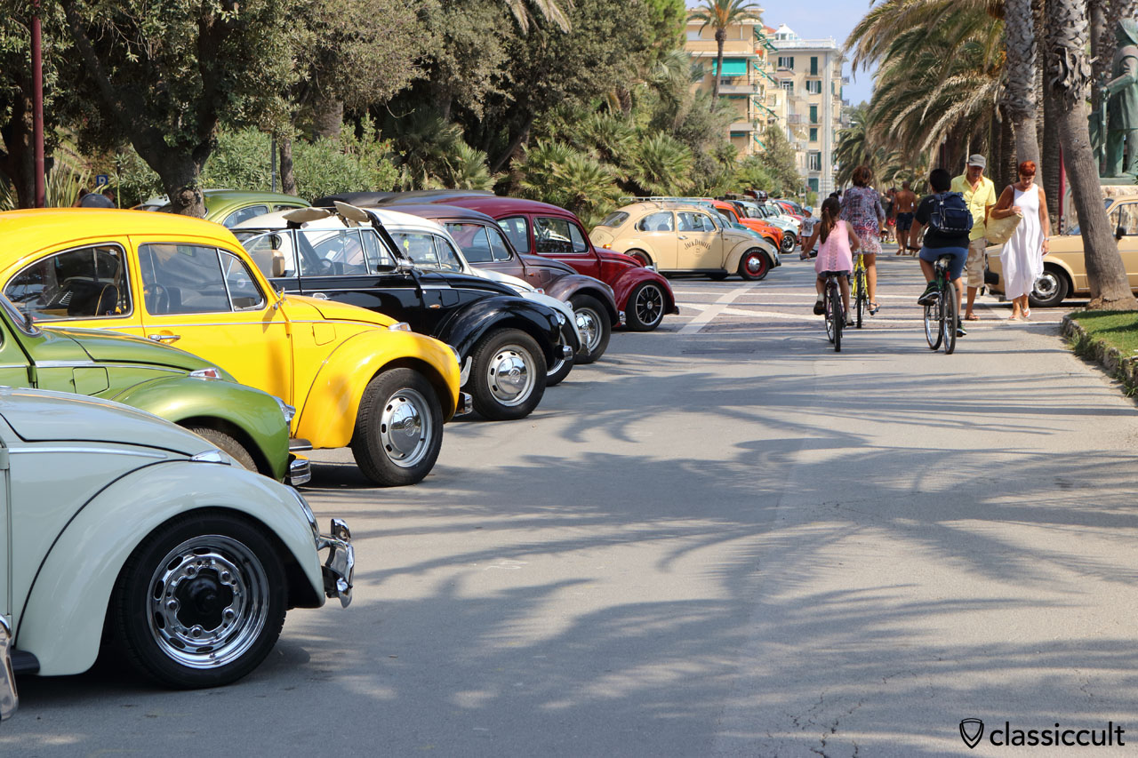 VW Beetles, Finale Ligure, Italy, 2016