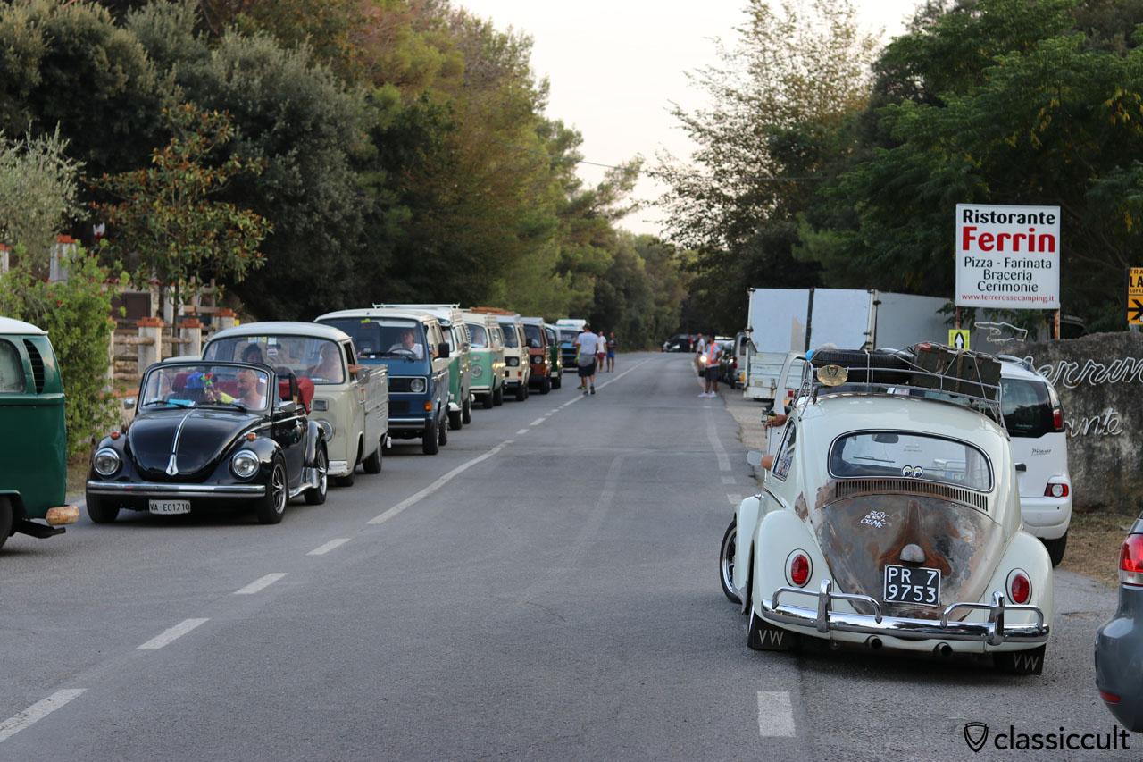 VW fans near Terre Rosse Camping Finale Ligure