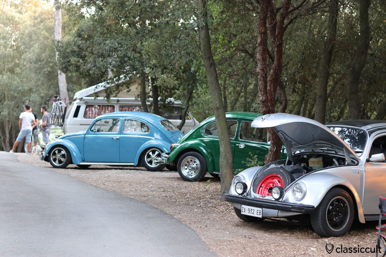 VW Fans camping at Terre Rosse Campground, Finale Ligure, 7:21 p.m.