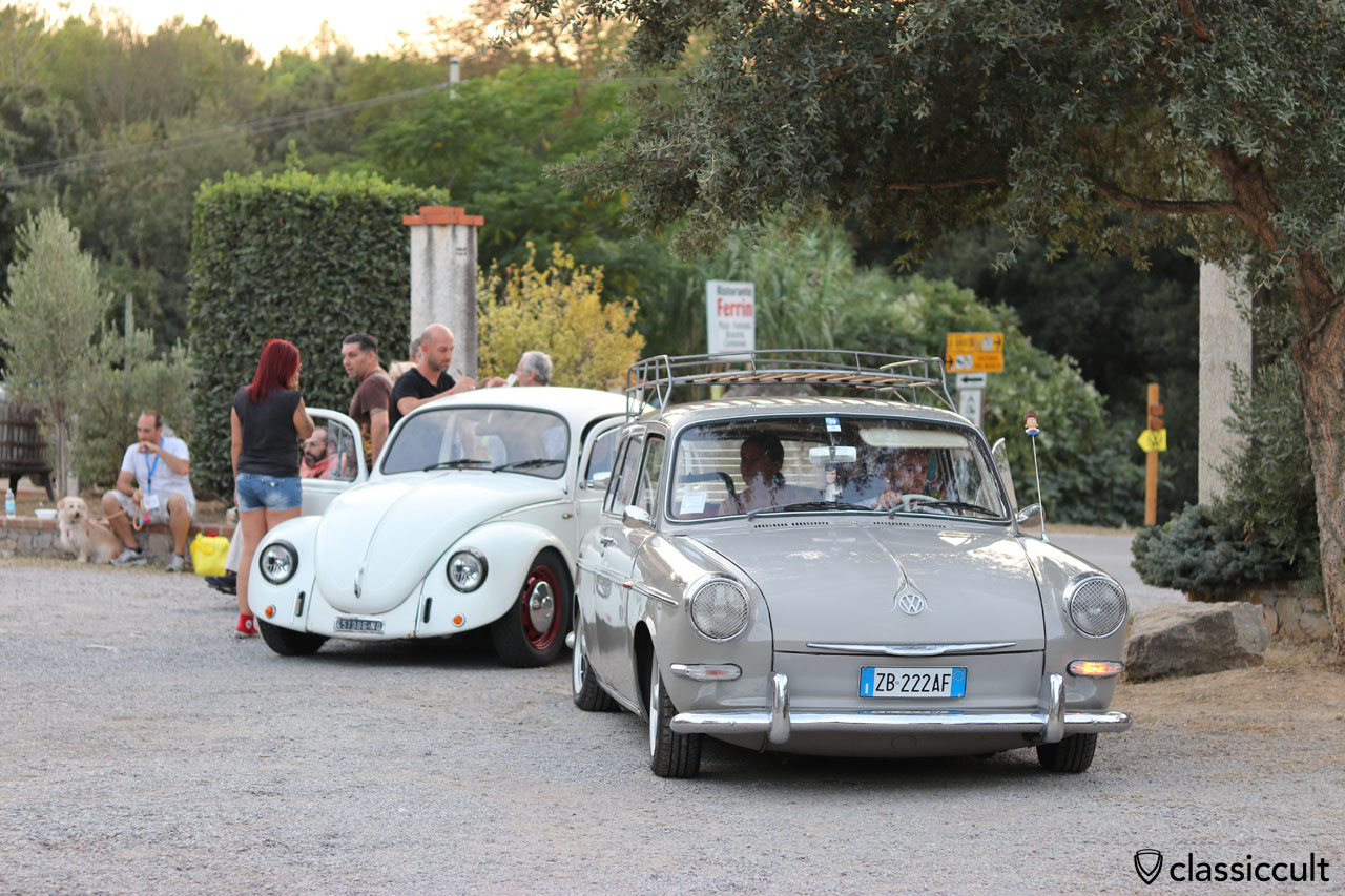 VW Type 3 fans just arrived at Terre Rosse Camping, Finale Ligure, Saturday, September 10, 2016, 7:29 p.m.