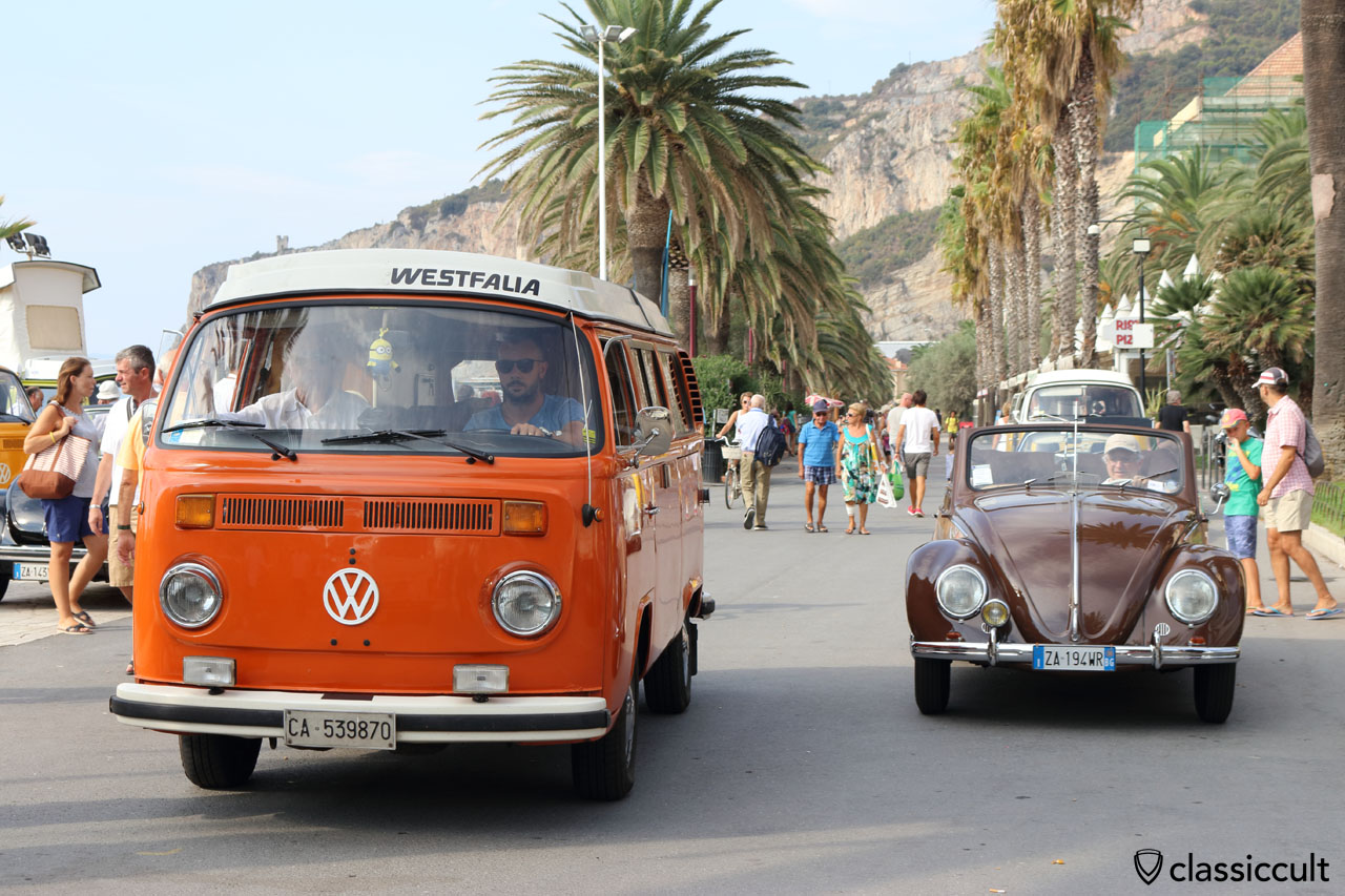 VW Cabriolet and Westy Bus