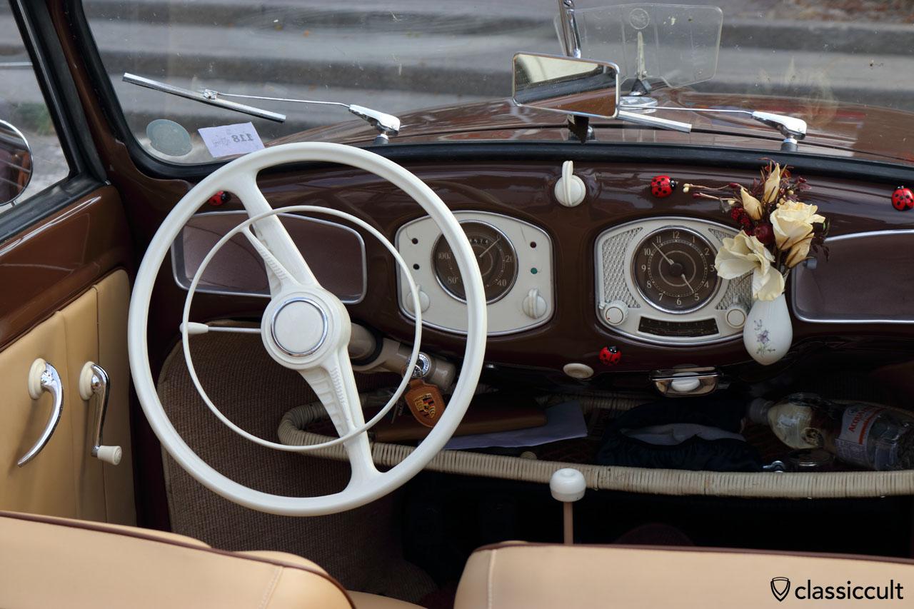 Volkswagen Split Karmann Cabrio 1950 dashboard