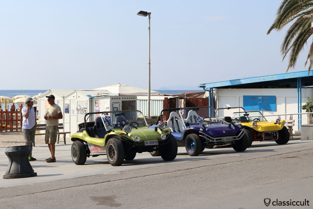 3x VW Buggy, Finale Ligure Beach