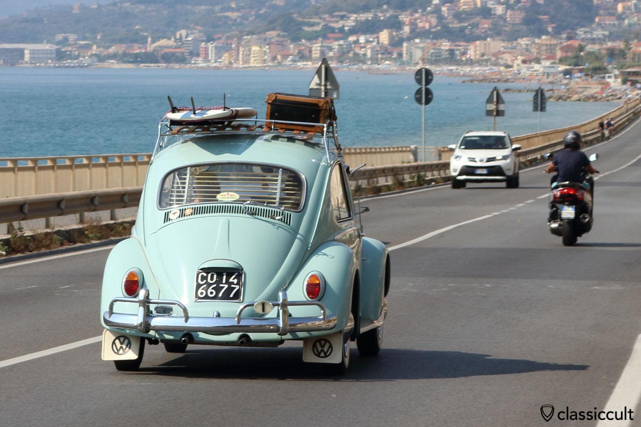 1966 VW Beetle, Riviera coast Italy