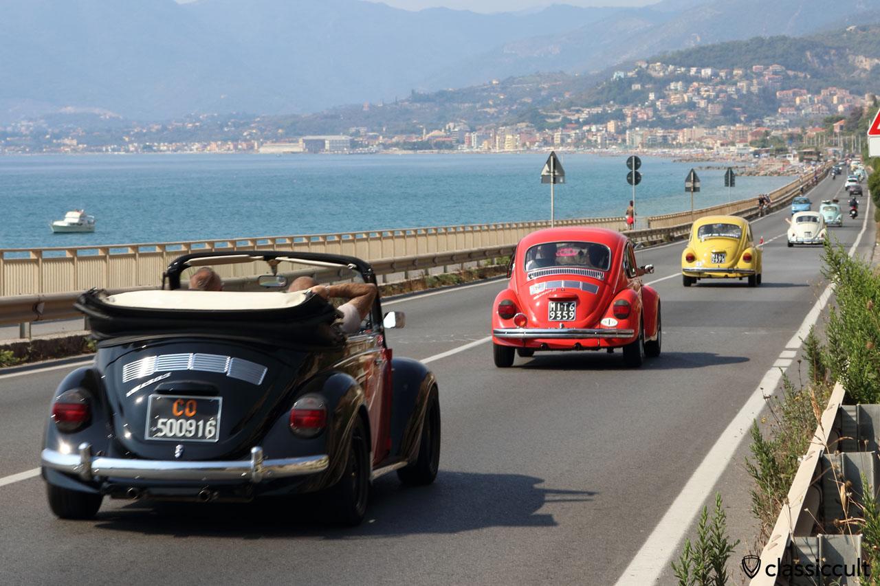 RiVWiera 3 aircooled VWs, Riviera coast Italy