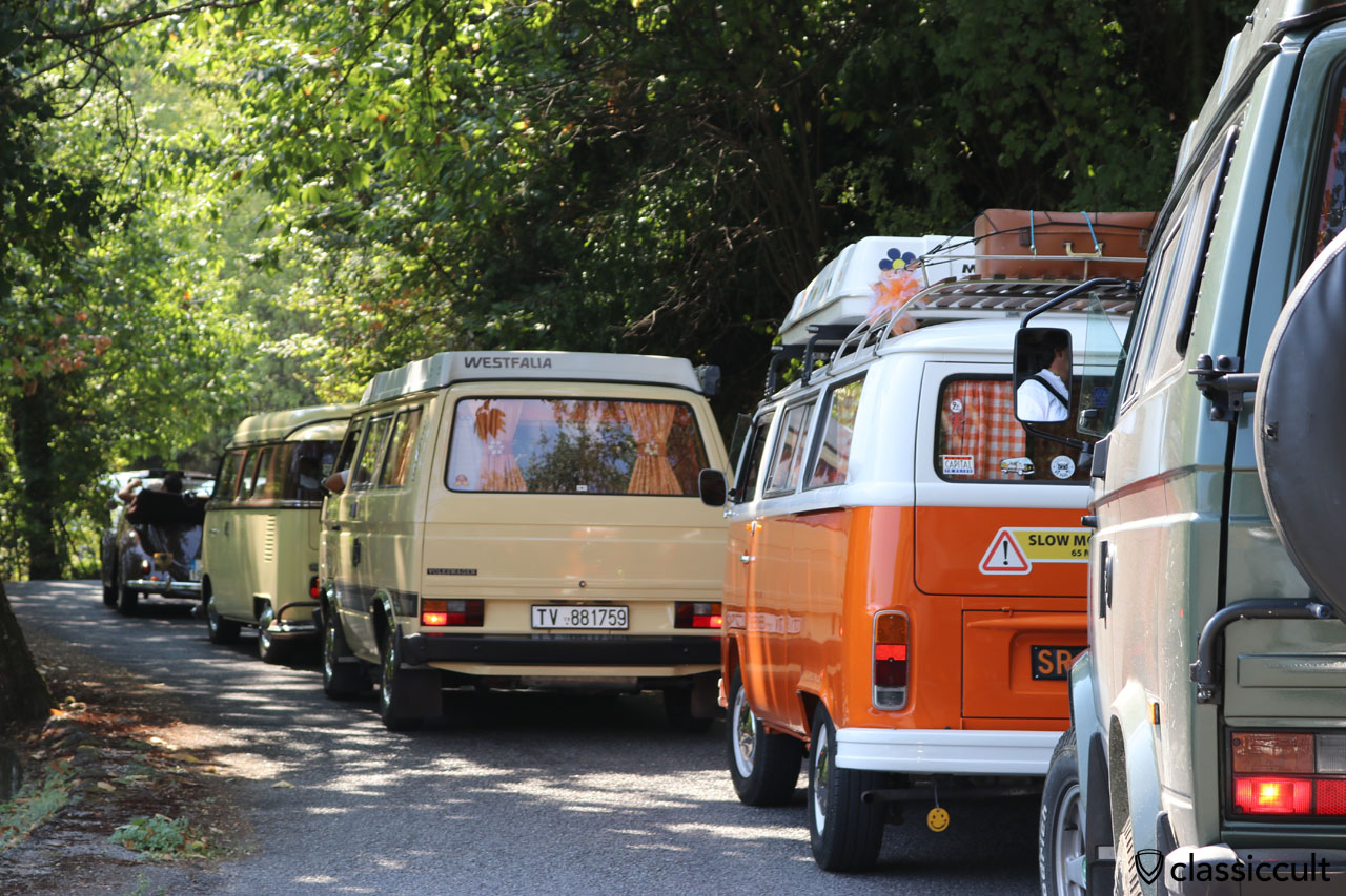 small air-cooled traffic jam while climbing the hill to San Michele church